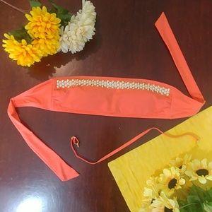 Michael Kors coral studded Bathing Suit Top Sz M